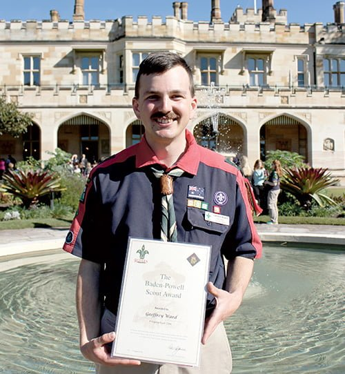 Baden Powell Scout Award For Geoff The Weekly Times